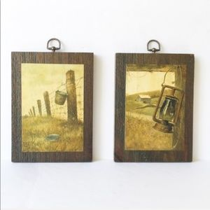 Vintage | Wooden Country Photo Wall Hangings